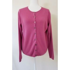 Boden 100% Cashmere Pink Button Cardigan 12
